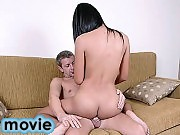 Young asian shemale riding her white lovers dick